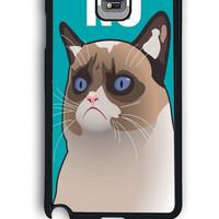 Samsung Galaxy Note 4 Case - Hard (PC) Cover with Cactus the Cranky Cat Plastic Case Design