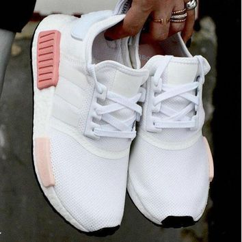 """Adidas"" NMD Fashion Women Leisure Running Sports Shoes Sneakers White-Pink I"