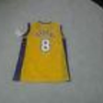 KOBE BRYANT LOS ANGELES LAKERS RETRO CHAMPION YOUTH JERSEY DEFECTIVE