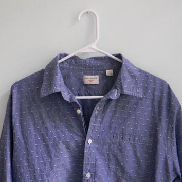 dockers chambray work shirt / denim work shirt / speckled chambray denim shirt