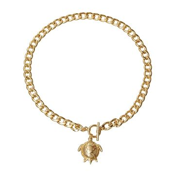 Gold Turtle Toggle Necklace