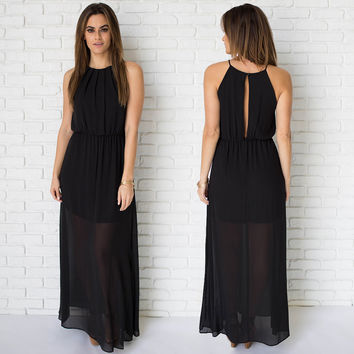 Primetime Maxi Dress In Black