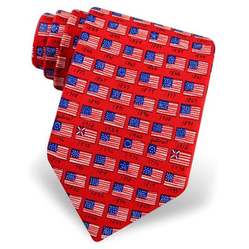 History of American flag necktie  Silk