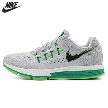 Original New Arrival NIKE AIR ZOOM Green & White Breatheable Women's Running Shoes