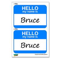 Bruce Hello My Name Is - Sheet of 2 Stickers