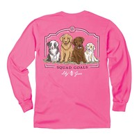 Lily Grace Squad Goals Long Sleeve T-shirt in Crunchberry 11676LS-CRUNCHBERRY