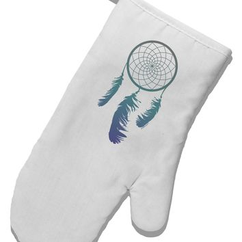 Mystic Dreamcatcher White Printed Fabric Oven Mitt