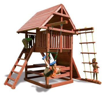 Playnation Juggling Act Wooden Swing Set