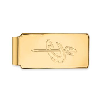 NBA Cleveland Cavs 14k Yellow Gold Plated Sterling Silver Money Clip
