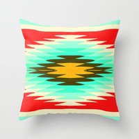 SURF LOVIN : CALIFORNIA Throw Pillow by Nika