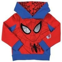 Clothing at Tesco | Hooded Marvel Spiderman Jumper > jumpers > Younger boys (1-7years) >