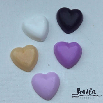 wedding soap favors, bridal shower favors, hearts soap favours, custom color wedding favor, unique wedding favor, bulk wedding favor, purple