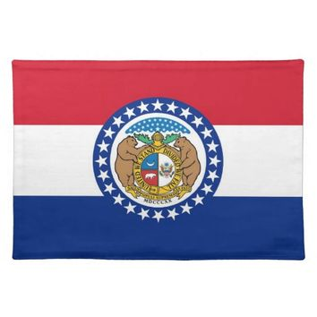 Missouri Flag American MoJo Placemat
