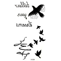 Tattoo Sticker Geese Waterproof Temporary