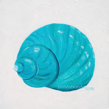 Shell painting, coastal decor, beach bathroom decor, art, beach house decor, beach decor, coastal wall art, tropical, coastal cottage decor
