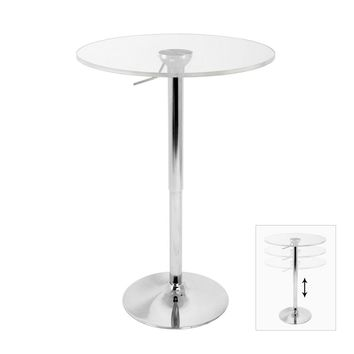 Adjustable Bar Table Clear 23.5 Diameter by Lumisource