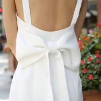 Sexy tide backless ladies temperament bow strap dress