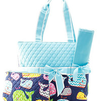 Whale Diaper Bag - 2 Color Choices