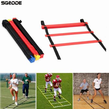 High Quality 20 Rungs Speed Agility Ladder for Soccer Speed Feet Training Football Sport Ladder Outdoor Fitness with Carry Bag