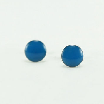 ROYAL BLUE Stud Earrings - Royal Blue Earrings - Royal Blue Ear Studs - Royal Blue Earrings Stud - Surgical Steel Earrings - 4mm / 6mm / 8mm