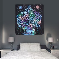 Elephant Tapestry Colored Printed Decorative Home Furnishing Beach Unisex Carpet Decor Dacron 130x150cm/148x210cm Wall Carpet