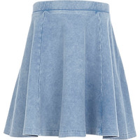 River Island Girls denim skater skirt