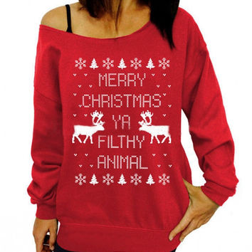 Ya Filthy Animal Xmas Sweater