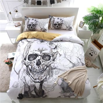 Skull Duvet Cover Bedding Set