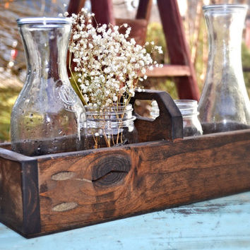Rustic Wood Box Centerpiece, Spring Centerpiece,Valentine's Day,Bread Basket, Wedding Centerpiece,Gift for Her,Mom Gift,Wife Gift