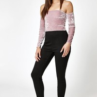 Kendall and Kylie Velvet Off-The-Shoulder Top at PacSun.com