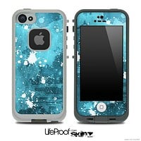 Splattered Blue & White Skin for the iPhone 5 or 4/4s LifeProof Case