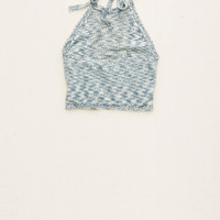 AERIE SWEATER HALTER CROP TANK