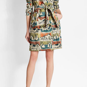 Printed Cotton Trench Coat - Burberry London | WOMEN | US STYLEBOP.COM