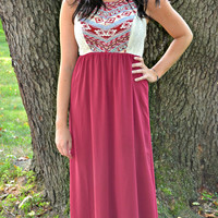 It's Only a Matter of Wine Maxi Dress