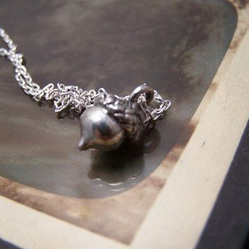 A Tiny Acorn Necklacepeter pan by EmilinaBallerina on Etsy