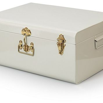 Large Metal Storage Suitcase | Oliver Bonas