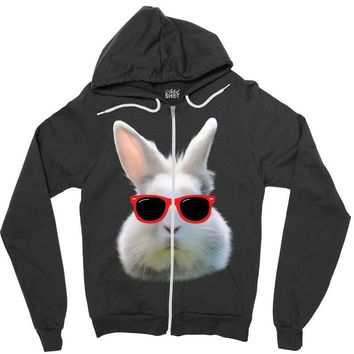 Easter Bunny Face Too Hip To Hop Zipper Hoodie
