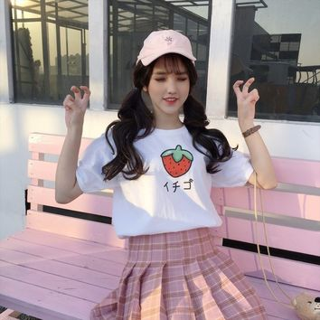 Strawberry Kawaii Shirt | Womens Harajuku
