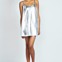 Fiona Metallic Strappy Swing Dress