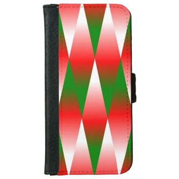Christmas Geometric iPhone 6/6s Wallet Case