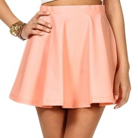Blush Faux Leather Skater Skirt