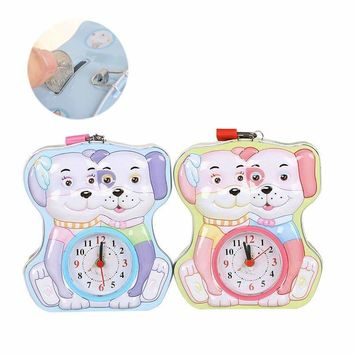 Multifunction Piggy Bank The Metal Home Decor Clock Cute Puppy Cartoon Alarm Clock Creative Christmas Gift Money Box