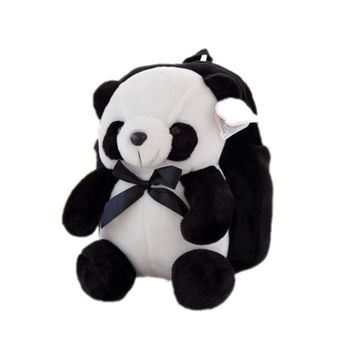 New Lovely Panda Plush Kids Kindergarten School Bags,kindergarten Backpack Children Snacks Bag,Plush Backpack -1pc