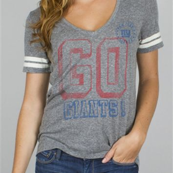 Women's NFL New York Giants Tee T-Shirt by Junk Food