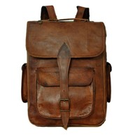 Christmas Holiday Deals Genuine Leather Laptop Backpack Rucksack for College School gift ideas men women