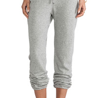 James Perse Vintage Cotton Genie Sweat Pant in Gray