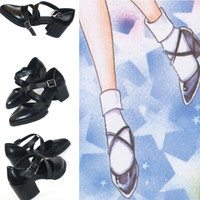 Sailor Moon Usagi Daily Cosplay Bandage Uniform Heels Shoes Free Ship SP140962