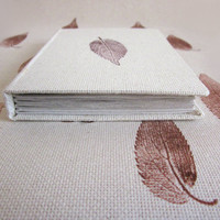 Handmade journal, handprinted fabric, recycled sheets