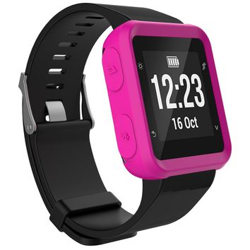 LANDFOX New Sport Ultra-Slim Protected Silicon Watch Case Cover For Garmin Forerunner 35 Fashion MEN WOMEN