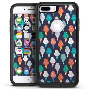 The All Over Teal and Green Ice Cream Cones - iPhone 7 or 7 Plus Commuter Case Skin Kit